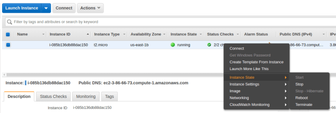EC2 terminate or stop and instance
