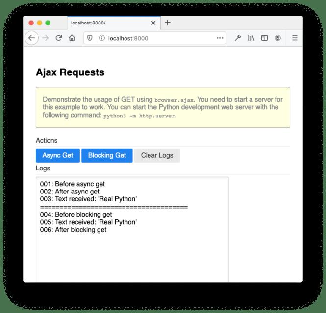 Browser Ajax
