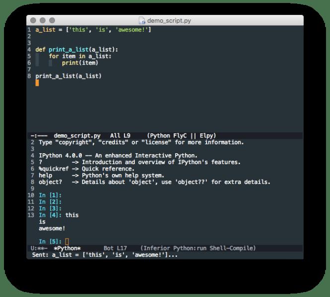 Emacs elpy ipython