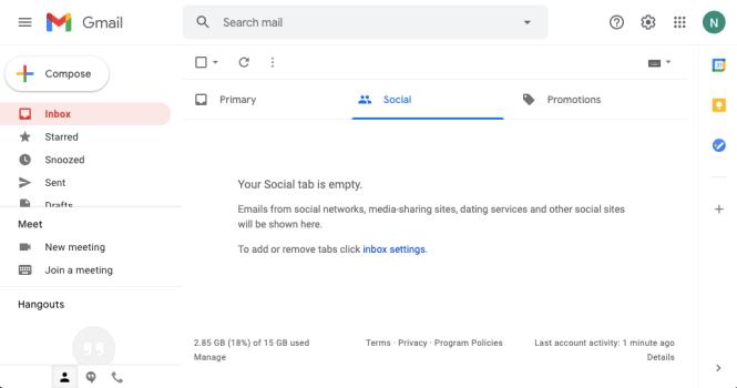 Une page d'application Web de messagerie Web comme exemple de page Web dynamique