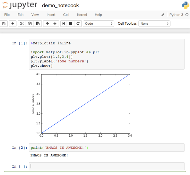 Jupyter notebook (interface web)