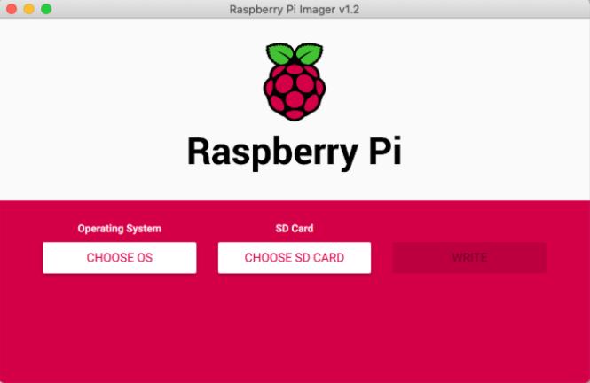 État initial de l'imageur Raspberry Pi