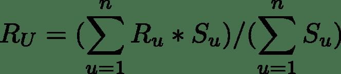 Formule pour la note moyenne pondérée