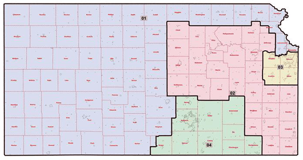 Kansas Redistricting Map - Proposal One