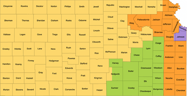 Kansas Redistricting Map - Turnpike 4th