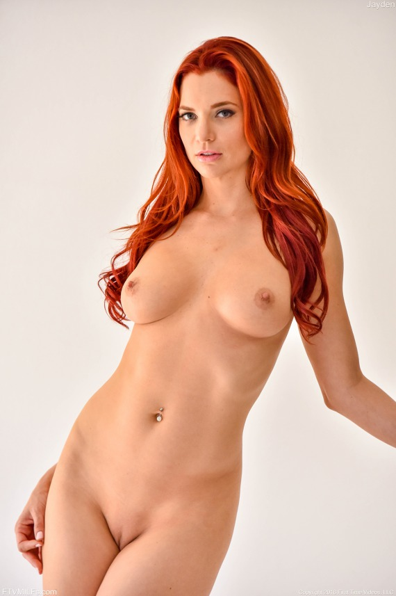 Jayden Cole, redhead, nude, shaved, strip, lingerie, ass