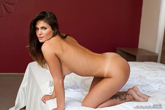 Sharon Weber, brunette, busty, Brazilian, strip, nude, ass