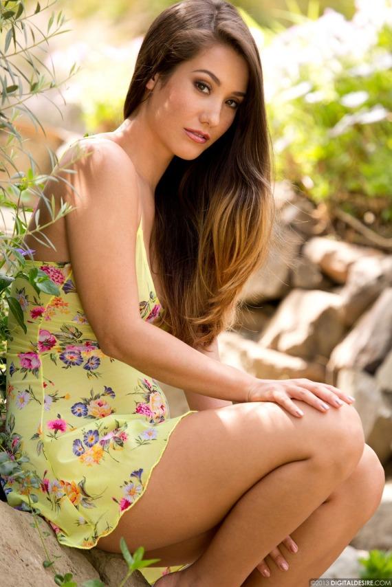 Eva Lovia, brunette, strip, nude, perky, dress