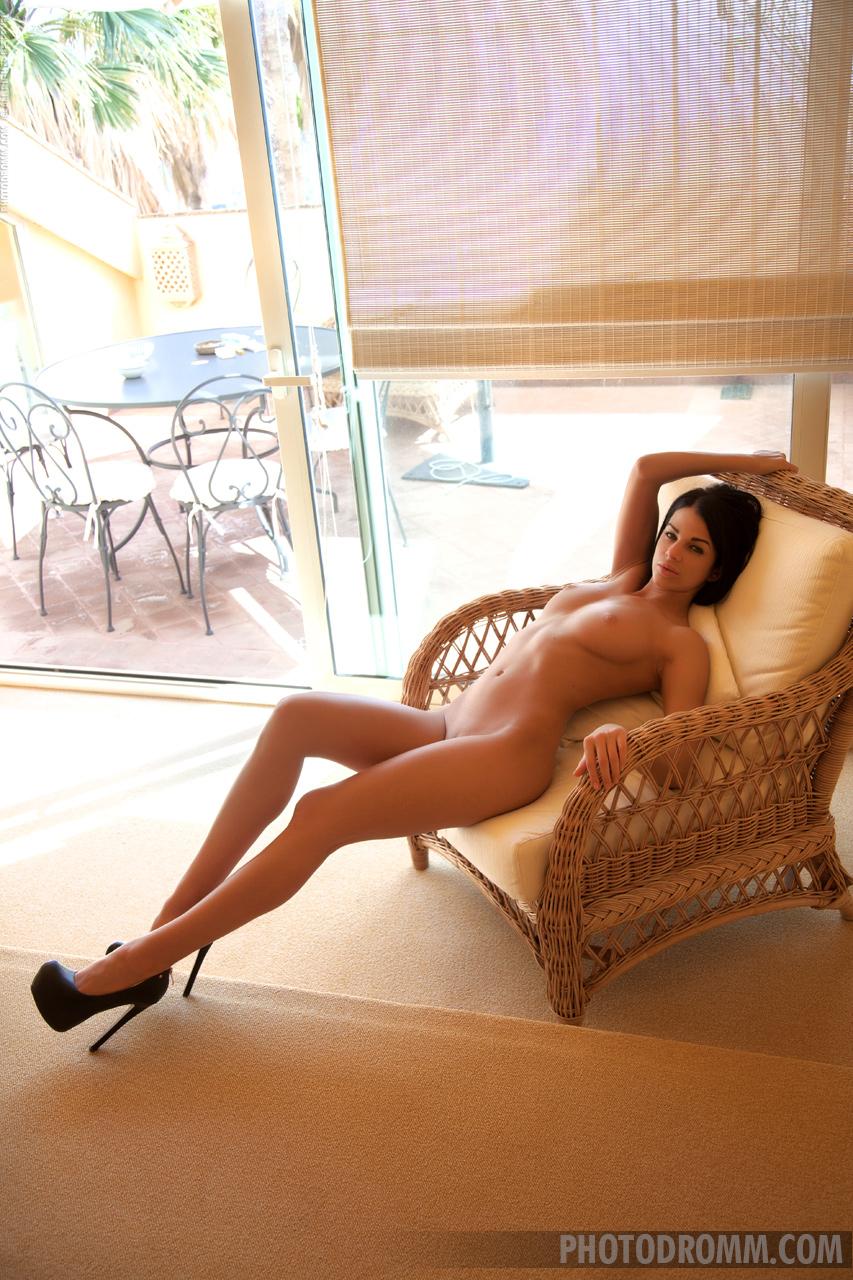 Sophie, brunette, strip, nude, trimmed, lingerie, ass