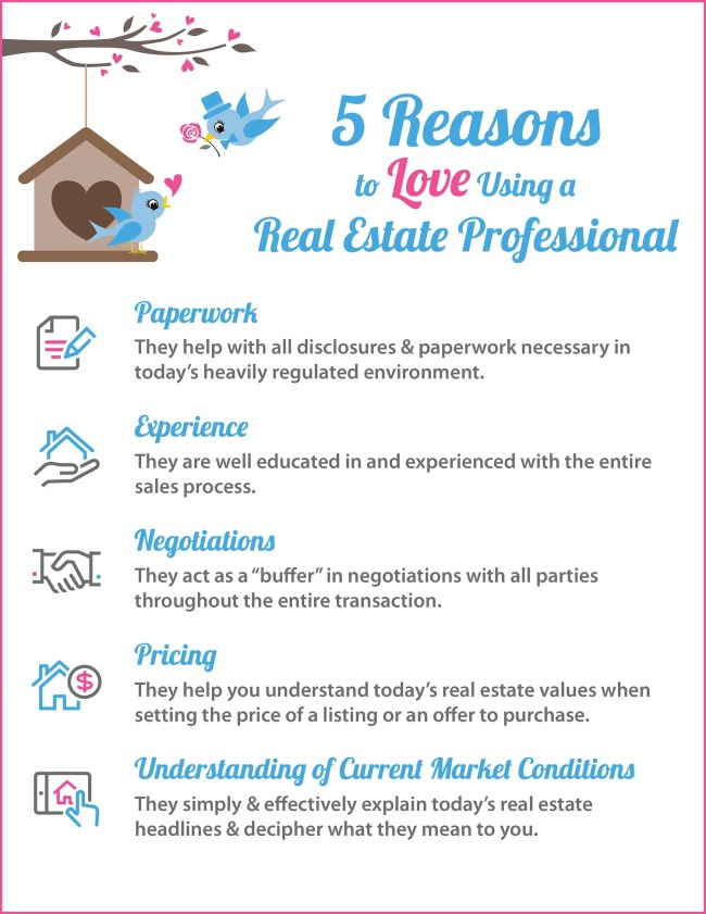 5 Reasons to Love Using A RE Pro [INFOGRAPHIC]   Simplifying The Market