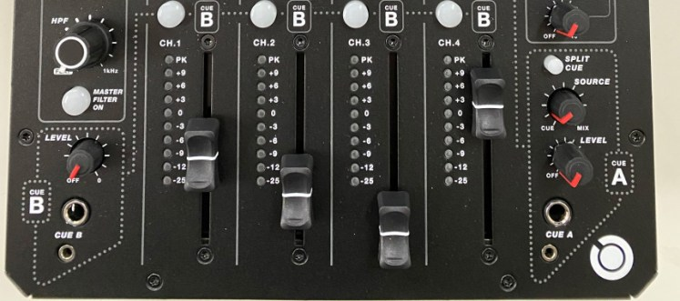 Model 1.4 faders