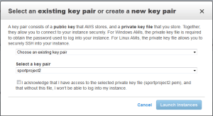 Select a Key pair