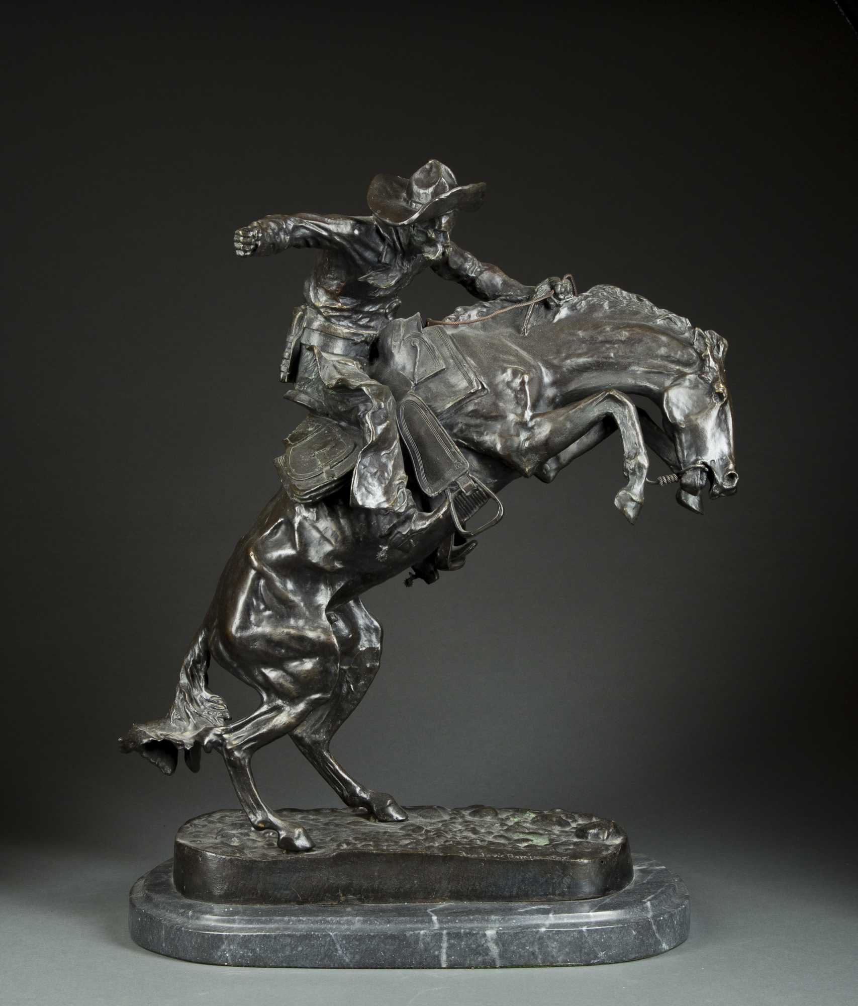 Reproduction Frederic Remington Bronze The Bronco Buster