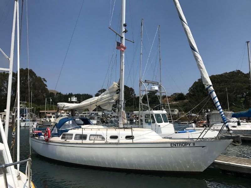 Sailboat at the Marina of Bodega Bay