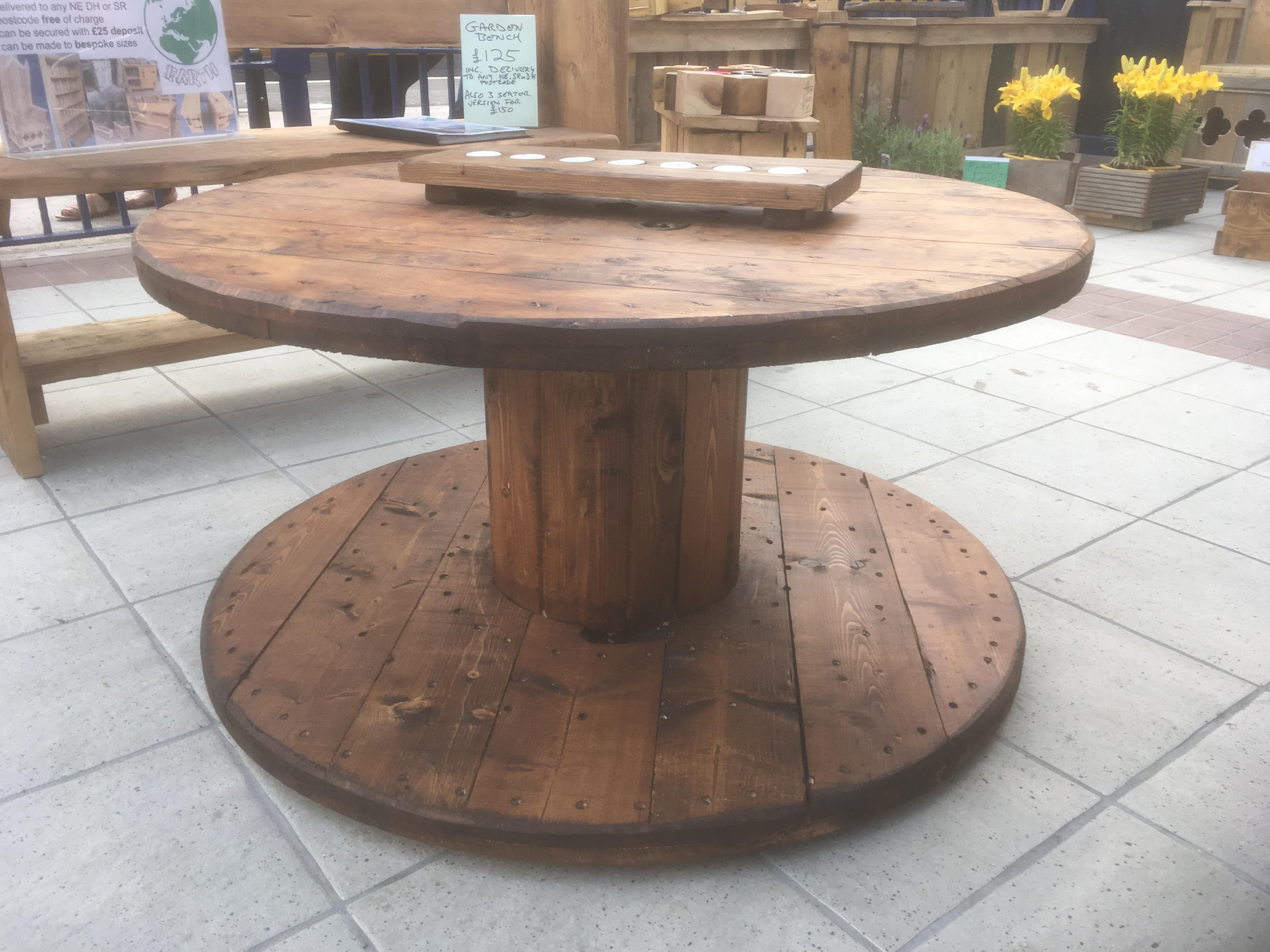 excellent cable spool kitchen table