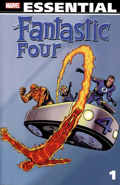 Cover for Essential Fantastic Four (Marvel, 1998 series) #1 [Alan Davis Cover without Sidebar]