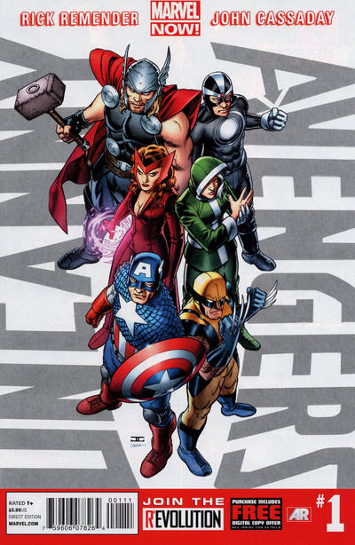 Cover for Uncanny Avengers (Marvel, 2012 series) #1