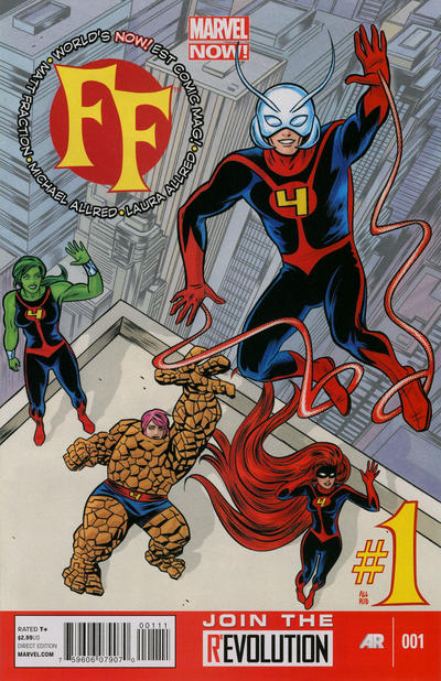 Cover for FF (Marvel, 2013 series) #1 [Michael Allred Cover]