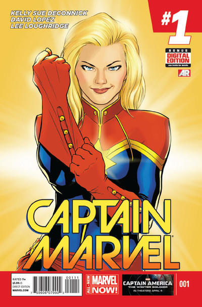 Cover for Captain Marvel (Marvel, 2014 series) #1