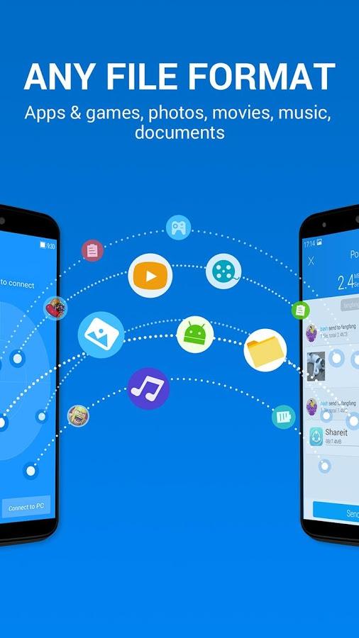 برنامج shareit لارسال واستقبال الملفات بين الكمبيوتر والموبايل فى نفس الواى فاى