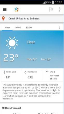تحميل برنامج طقس العرب لمعرفة حالة الطقس للاندرويد 1