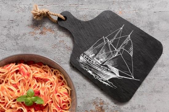Laser Cut Sailboat Cutting Board Gift For Sailor Free Vector