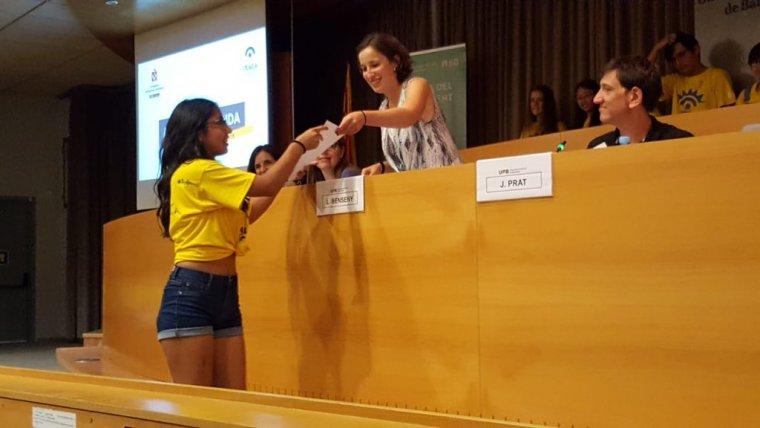 Moment de l'entrega de diplomes del Campus Ítaca 2018