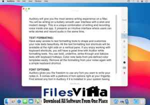 Auditory for Mac DMG Free Download
