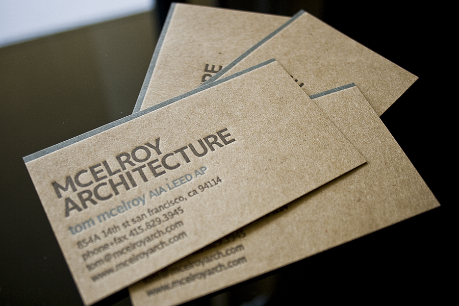 Letterpress Business Cards for an Architect   Fresh Impression     Letterpress Business Cards for an Architect   Fresh Impression Letterpress  Studio   Fresh Impression Letterpress Studio