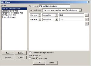 Filename filters