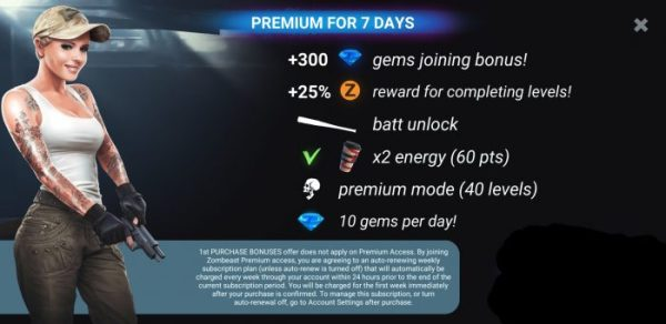 Zombeast Game Tips : VIP permanent access Get More Rewards