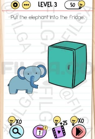Brain Test Level 3, Tricky Puzzles (Before Screenshot)