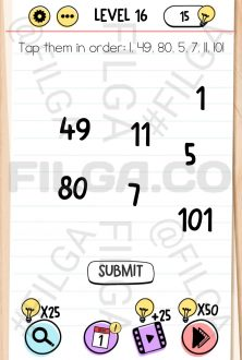 Brain Test Level 16, Tricky Puzzles (Before Screenshot)