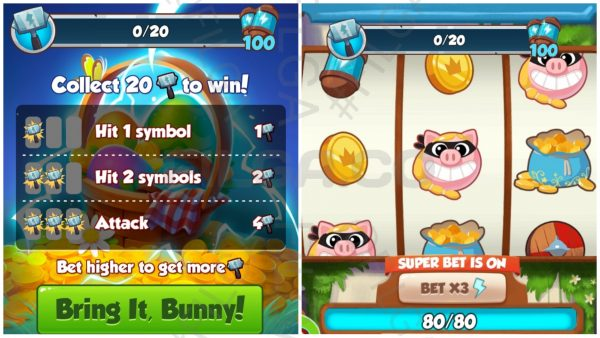 Coin Master Bunny Battle Attack Madness Spin Board and Event Requirements :Filga