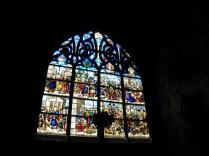 Witraż bocznej kaplicy