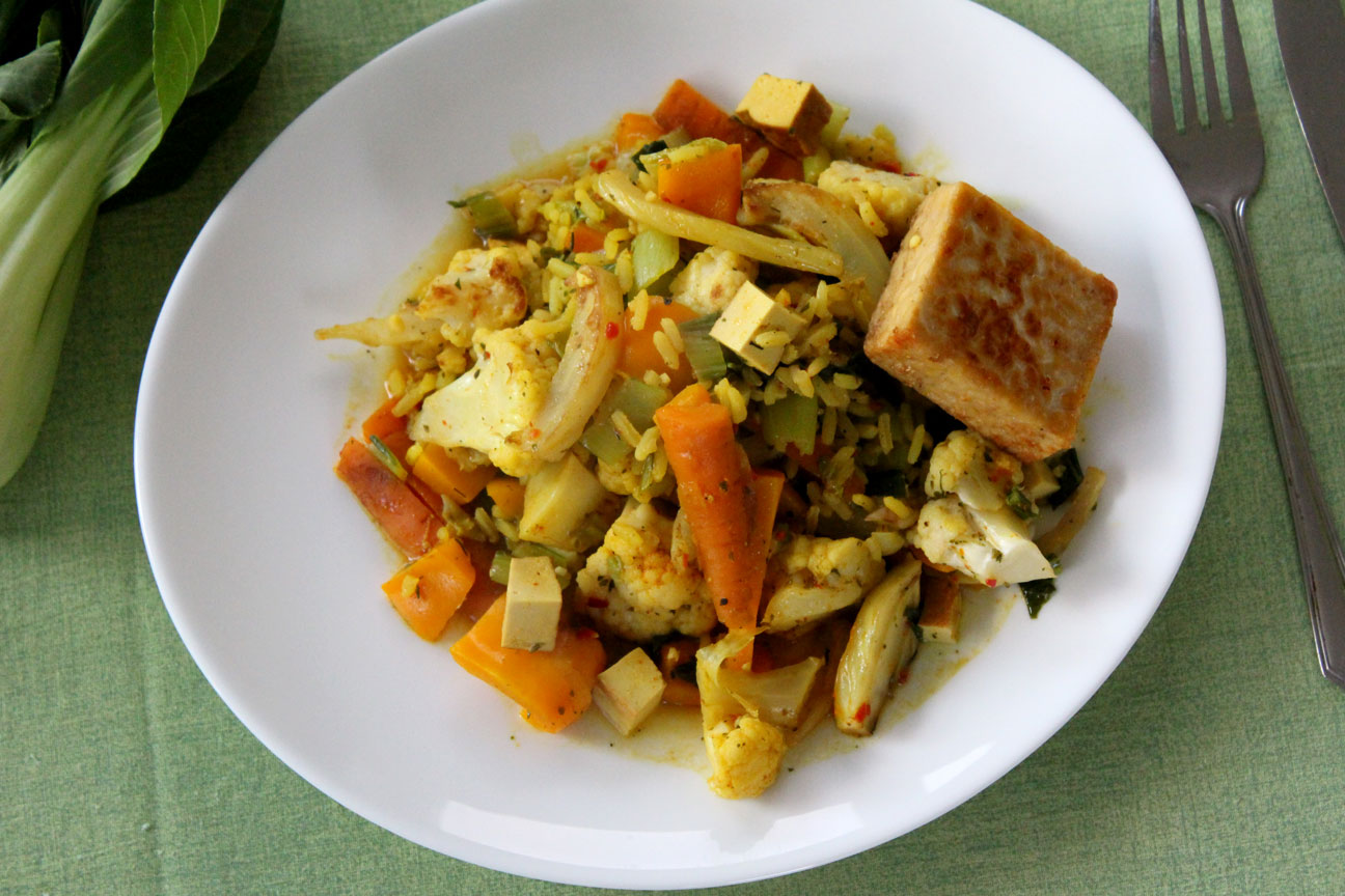 Gemüsepfanne-Ostern-mit-Tempeh