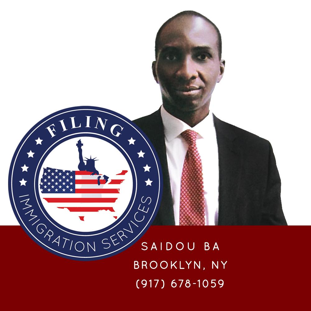 Saidou Ba & Family LLC | Filing Immigration Services | Designed By AndreaStudios