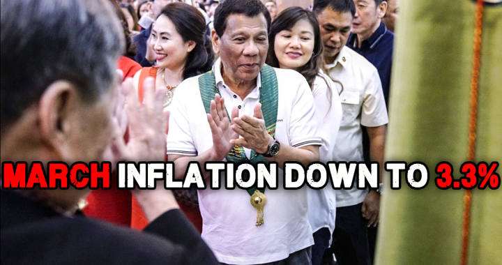 Good news: Inflation rate, bumaba sa 3.3% ngayong Marso