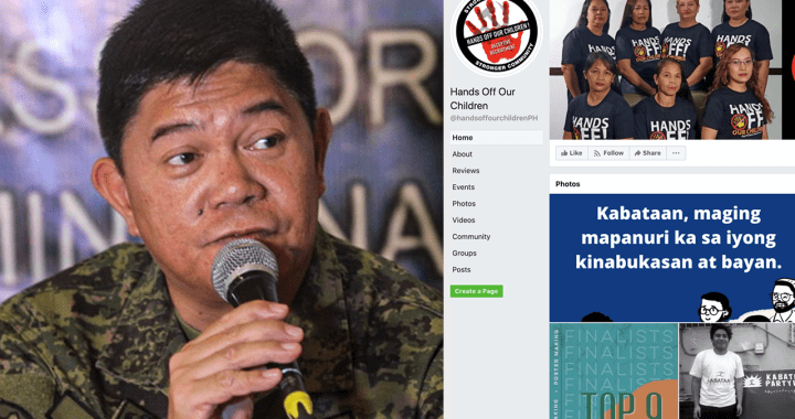 AFP Chief Gapay regrets shutdown of 'Hands Off Our Children' FB page