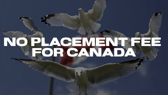 no placement fee country
