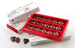 cuori di cioccolato piccante
