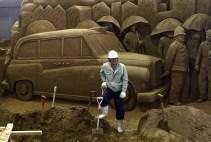 Sand Sculptures Exhibited At Tottori Dune