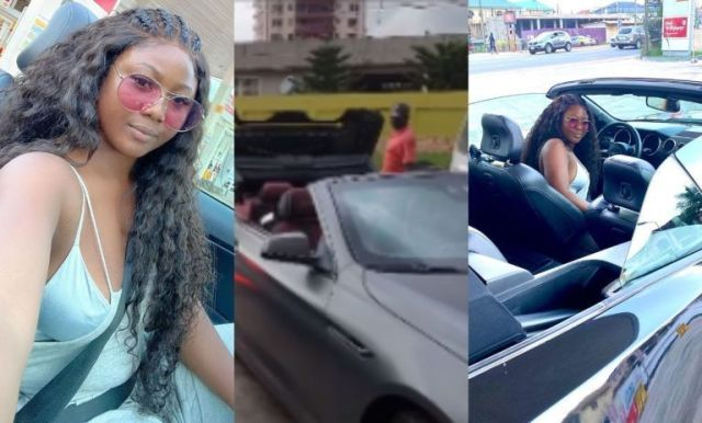 salma mumin and Elikem chopping love in expensive cars