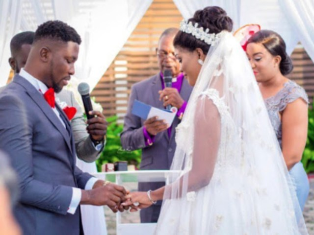 Kwame A plus and wife