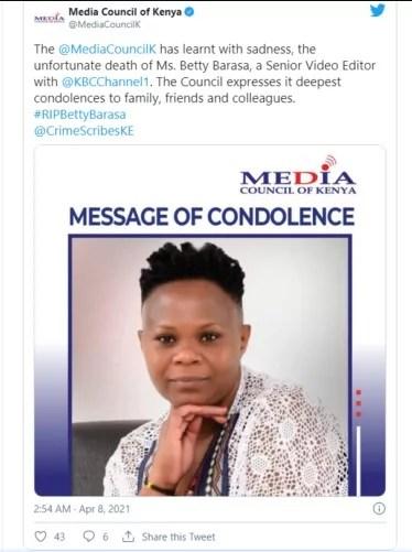 Female journalist shot dead