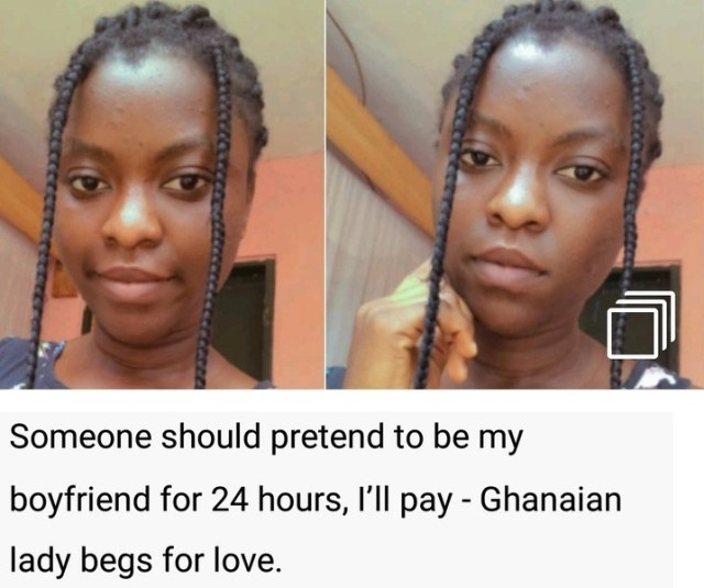 lady begs for love