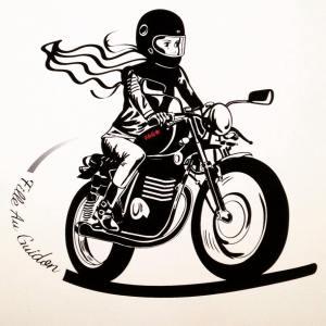 Fille au Guidon, vêtements pour femmes en moto et deux roues