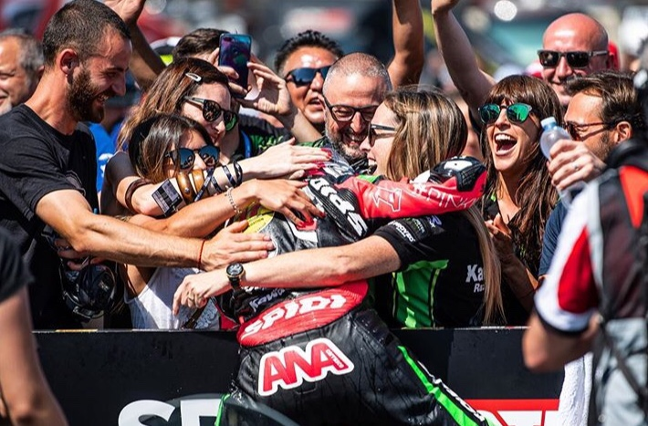 ana carrasco podium sbk 300 a misano