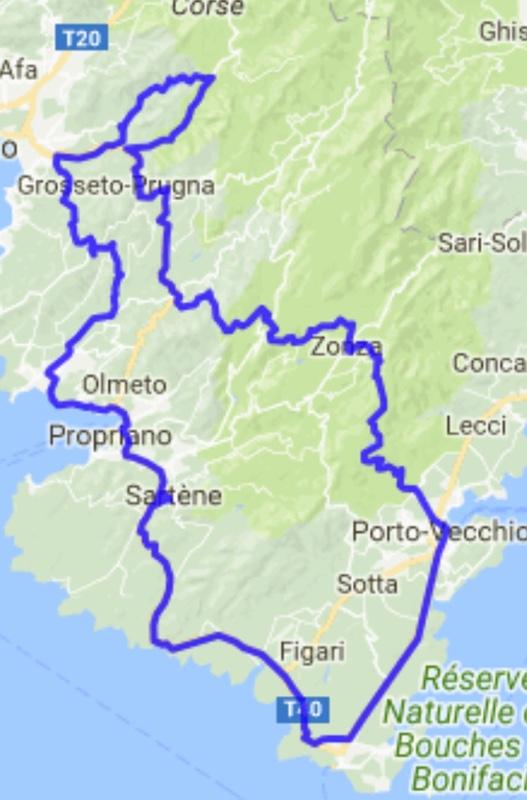 road trip moto Corse du Sud : Ajaccio-Bonifacio-Porto Vecchio-Ajaccio