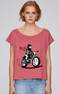 tee shirt motarde ample grenade